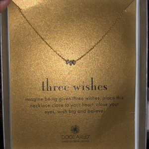 NWT Dogeared three wishes necklace